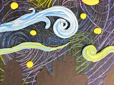Kidcreate Studio - Cedar Rapids. Ode to Van Gogh Weekly Class (5-12 Years)